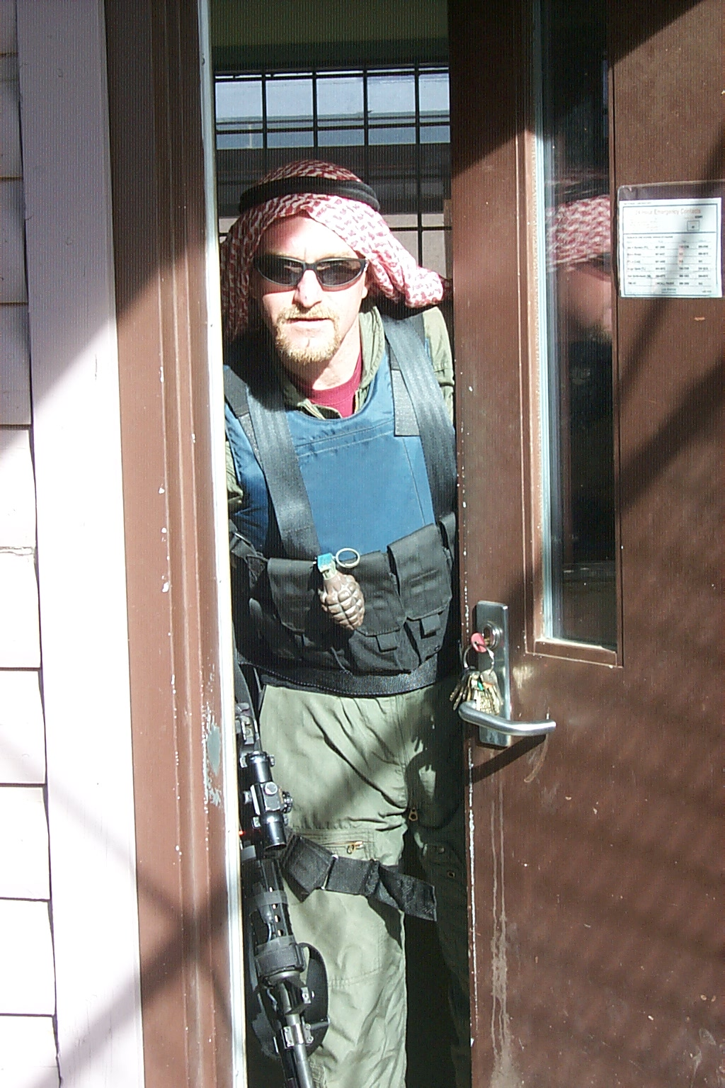 It was fun playing a terrorist in an exercise