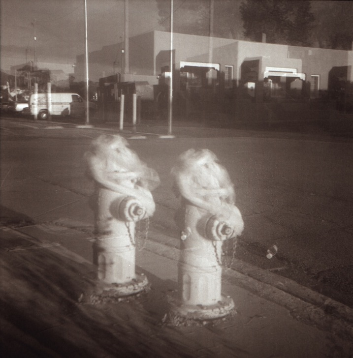 Hydrant with veil, double exposure – f7.7 @ 1/25