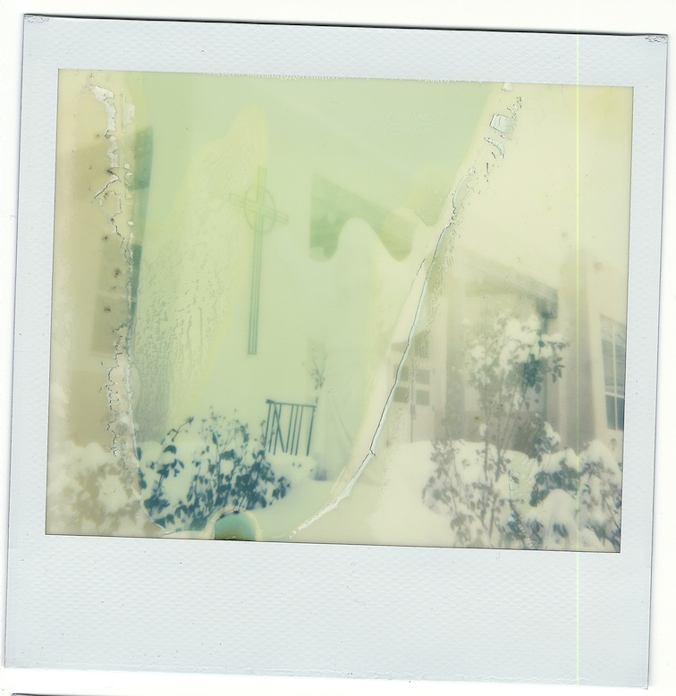 I got it out of the light quickly but it was freezing cold -- Impossible film is fussy about temperature too.