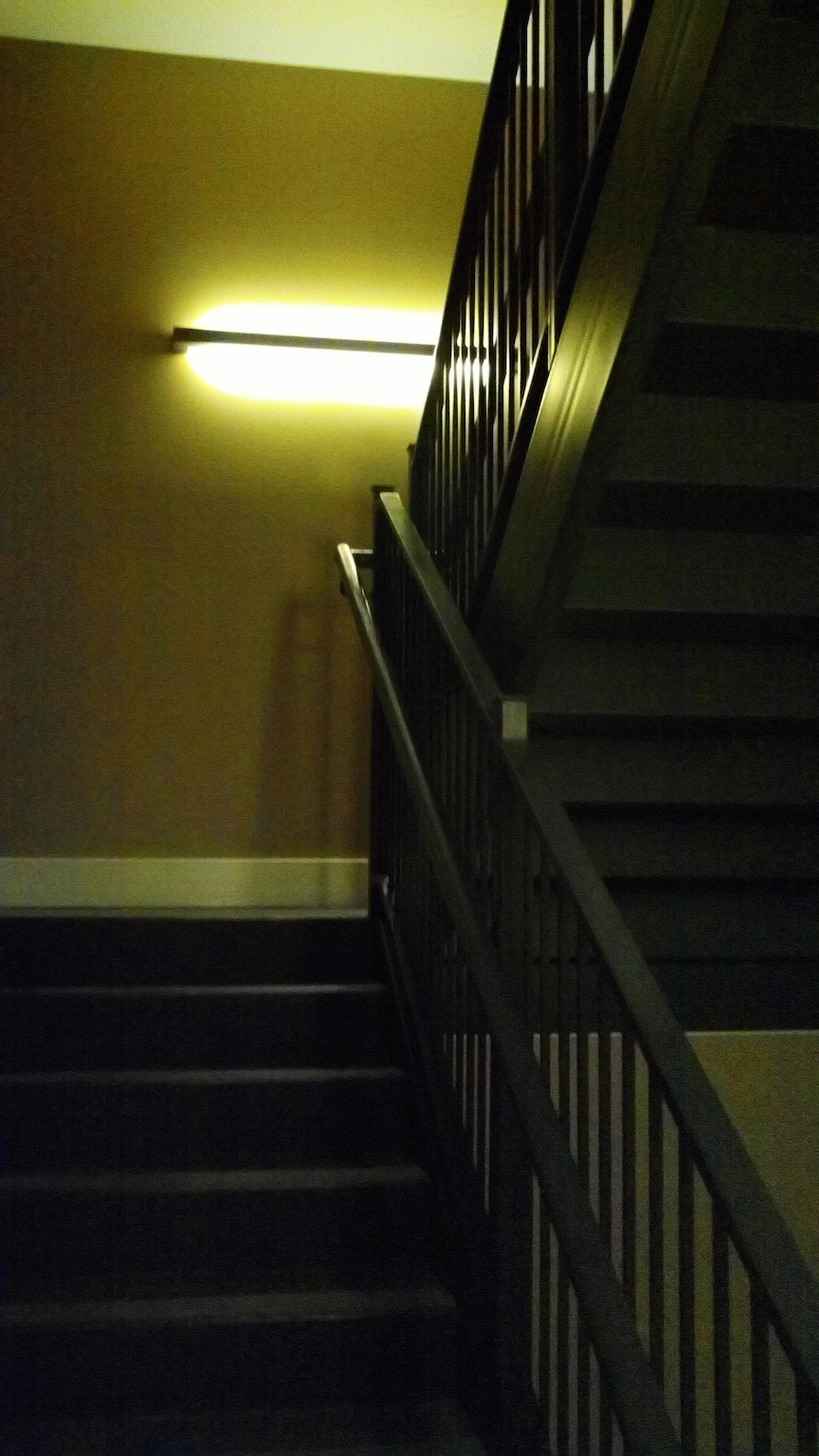 Stairwell at Hotel Parq Central -- ISO 800, f2.8, 1/30 sec.