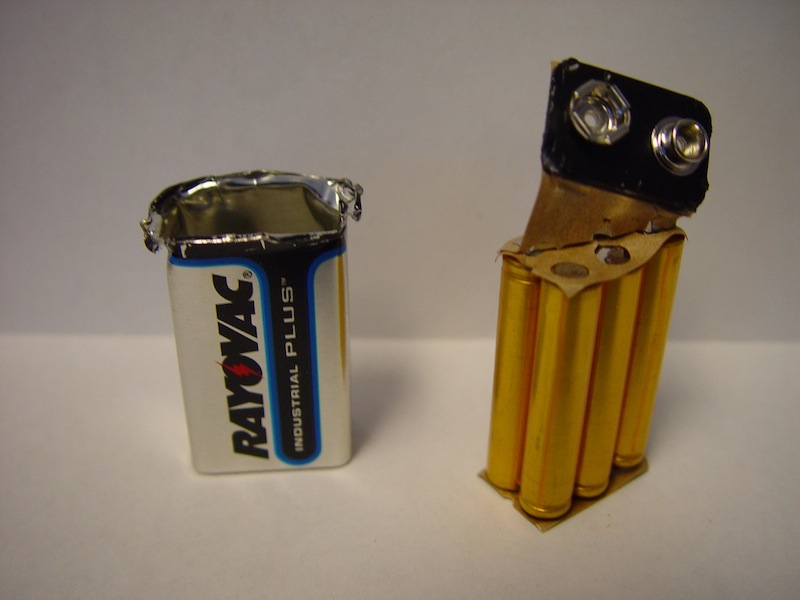 AAAA are available but I read somewhere that 9V batteries are 6 AAAAs in series