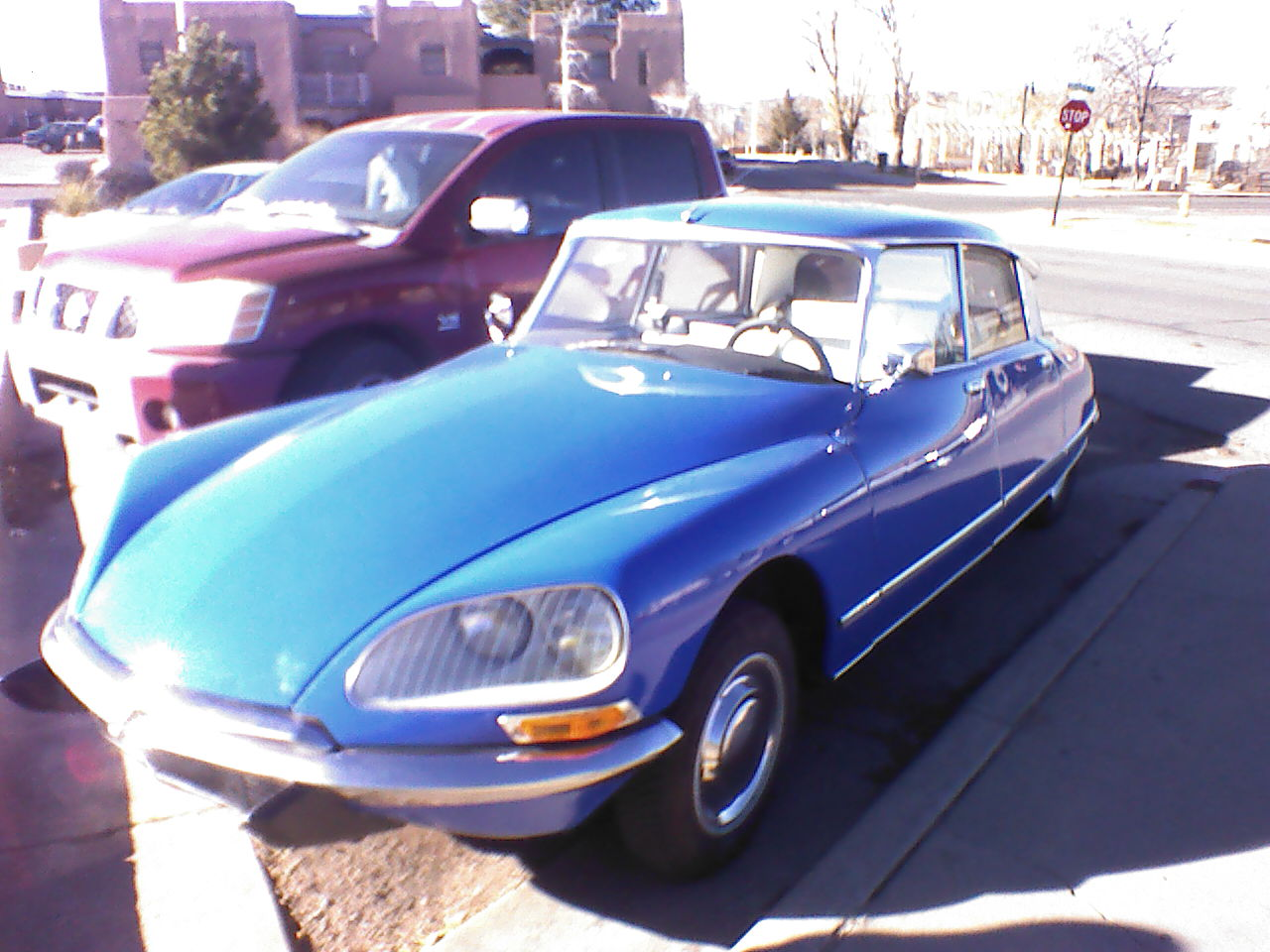 Beautiful old Citroen DS downtown