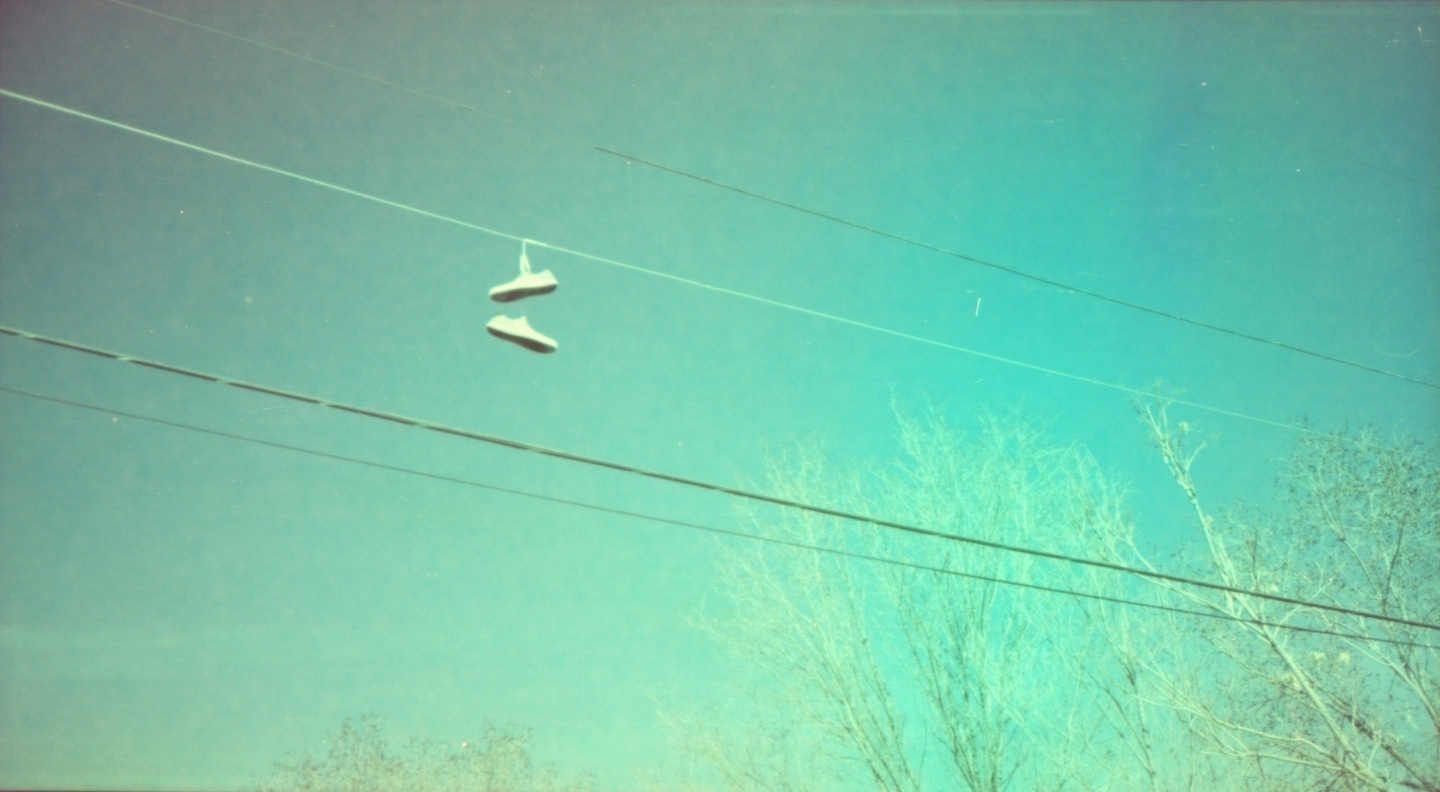Power line shoes.  I left this one alone.  None of my adjustments had that gritty, Polaroid feel.
