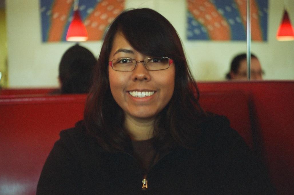 My sweetie at Joe's. f/2.8 @ 1/50 (I think).