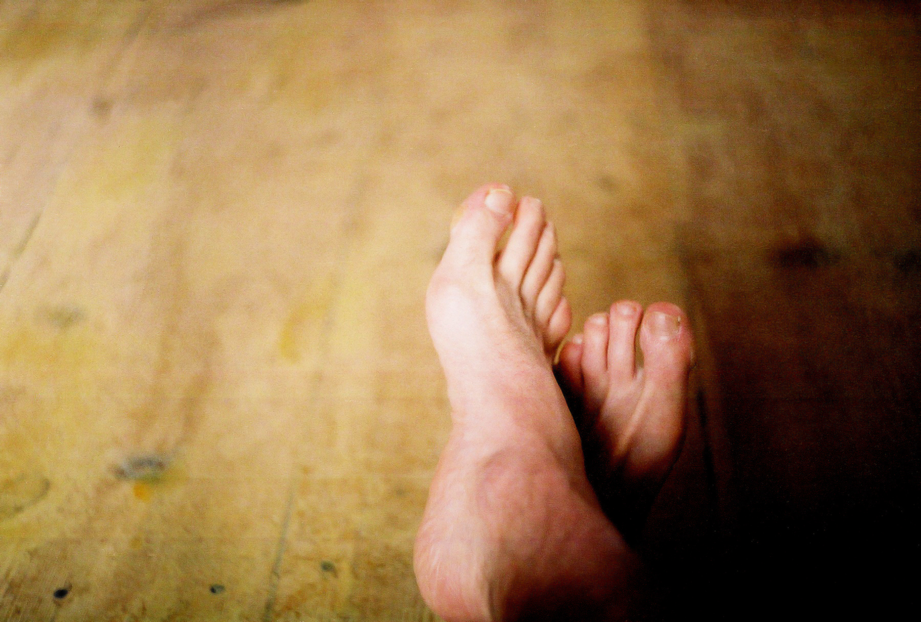 Bare feet...