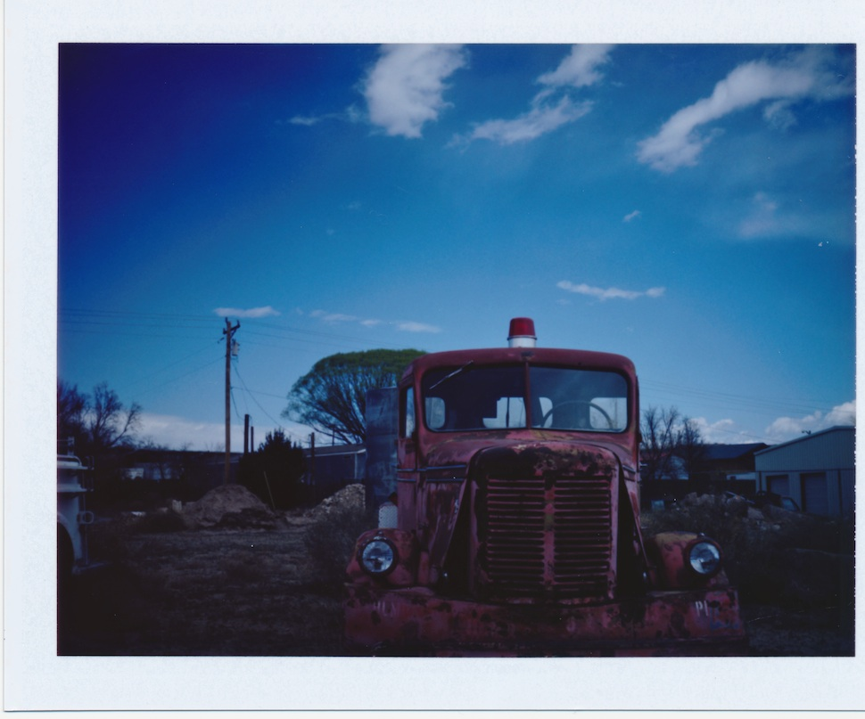 Another old fire truck in La Puebla - Fuji FP100C film.