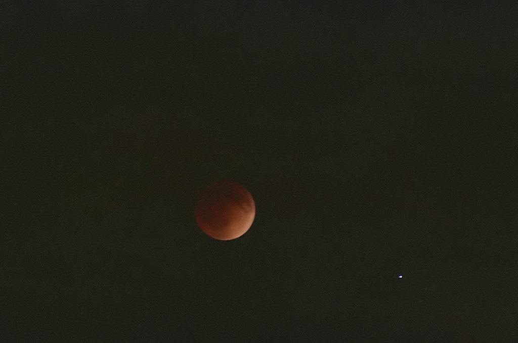 Lunar eclipse -- blood moon.