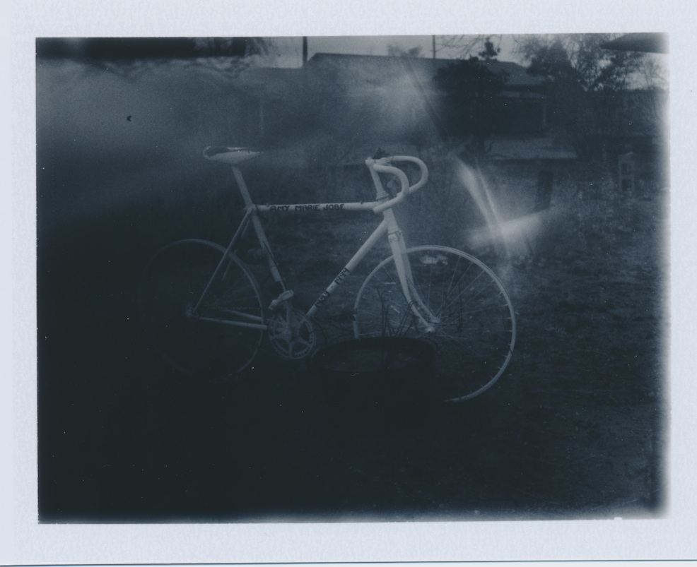 Ghost bike in Pojoaque -- Fuji FP3000B film.