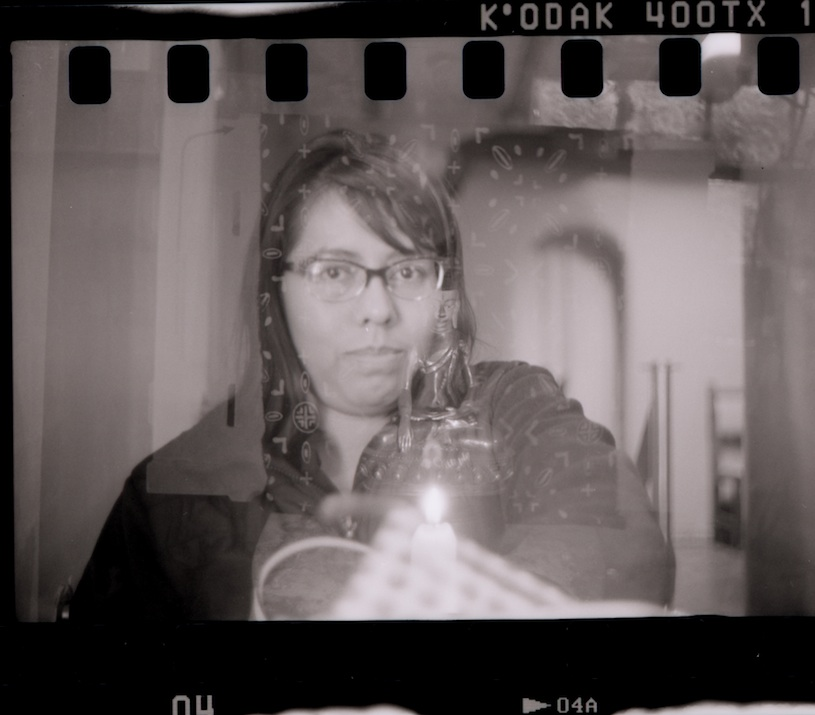 Double exposure.  Was I doing shoot and wind or wind and shoot?  The index sensor is a useful thing.