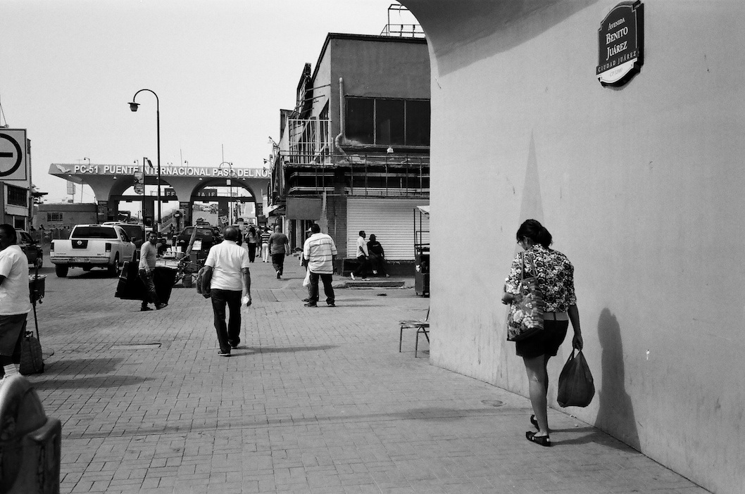 Border crossing.  Kodak T-Max 400.