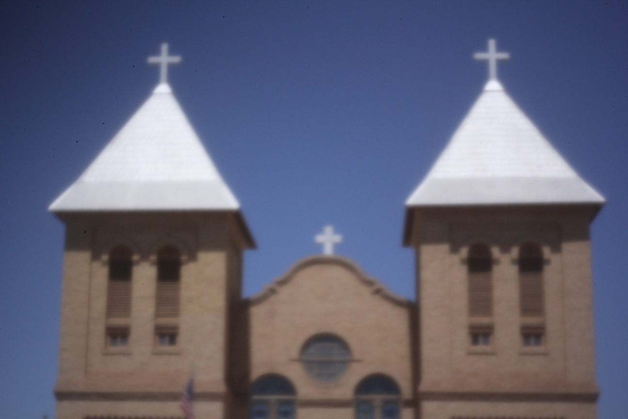 Basilica of San Albino in Mesilla, NM.  ISO 800, 1/20 sec, f/whatever the pinhole turned out to be.