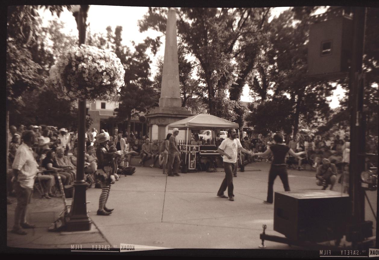 Dancing on the plaza in Santa Fe.