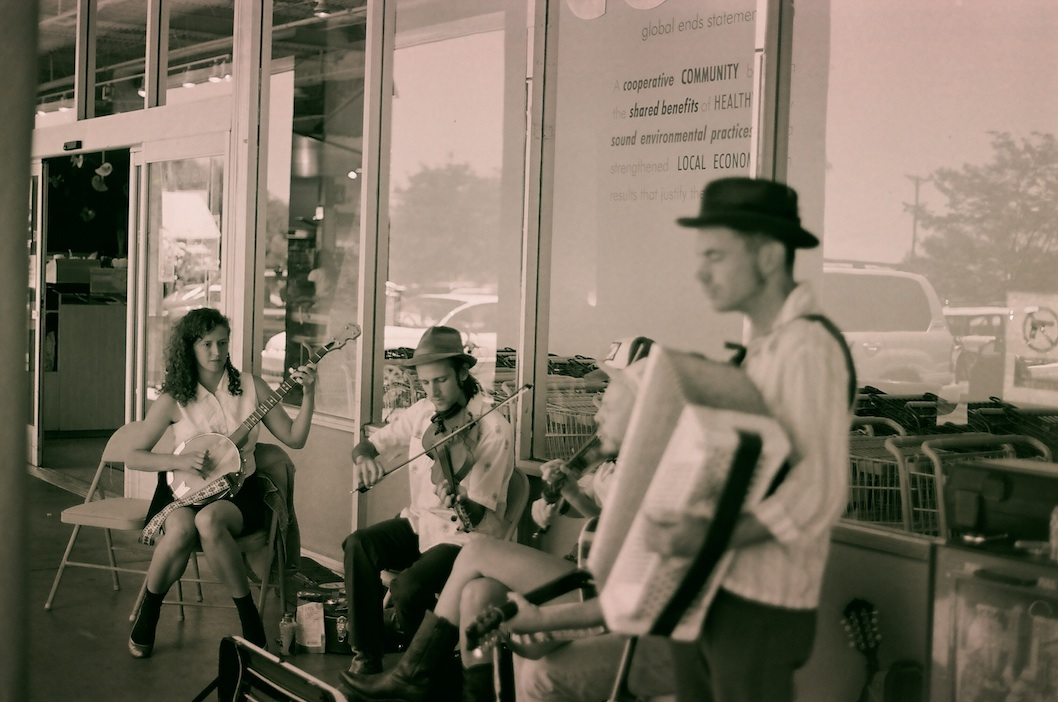 In the summer, there's always great music at La Montañita Co-op in Santa Fe.