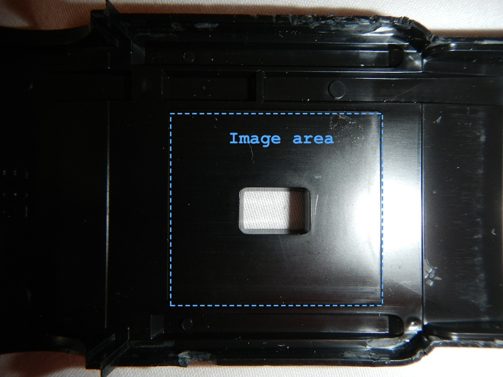 The image area is well defined.  The film will be a little too far from the lens unless...