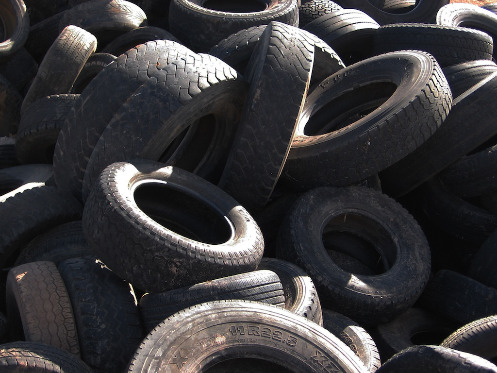 And a mountain of tires.