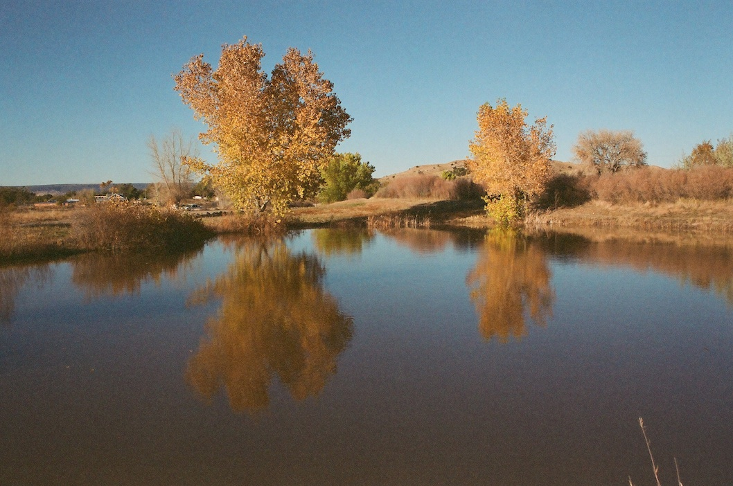 Pond at Black Mesa Golf Club.  Program AE.  I don't golf but they were cool about letting me photograph.
