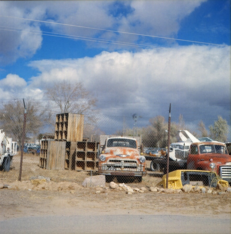 Old trucks near La Puebla, NM.