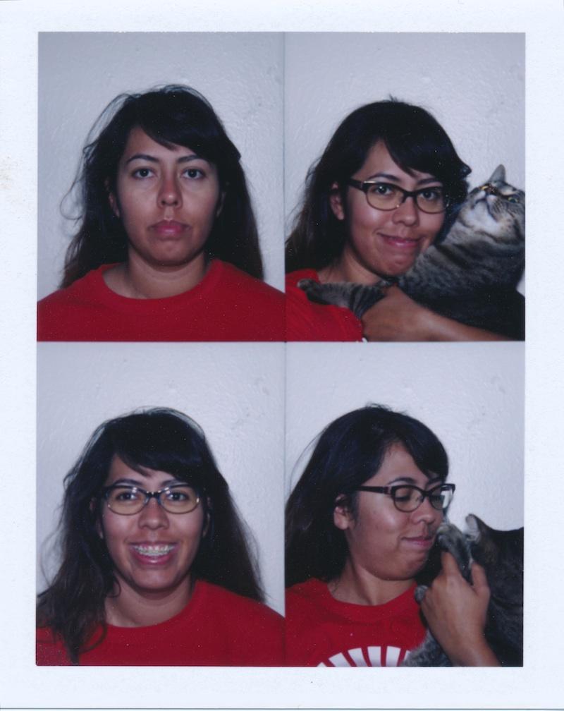 Using the 1 photo per shot setting.  From mug shot to happy cat lady.