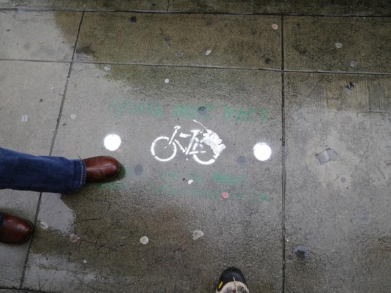 Stencil street art, San Francisco, CA