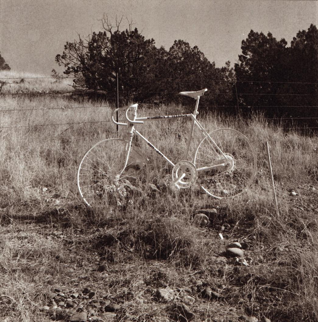 Ghost bike on NM 502.