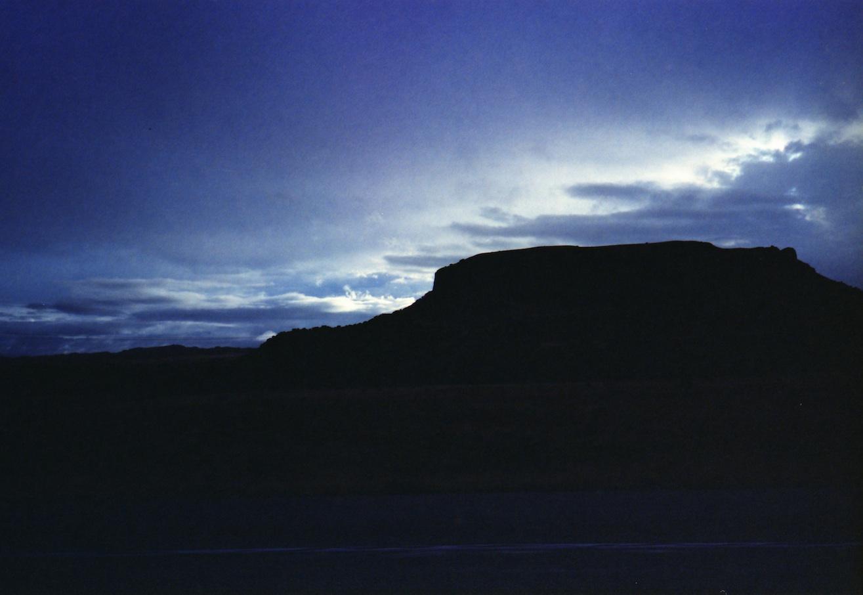 Black Mesa silhouette.