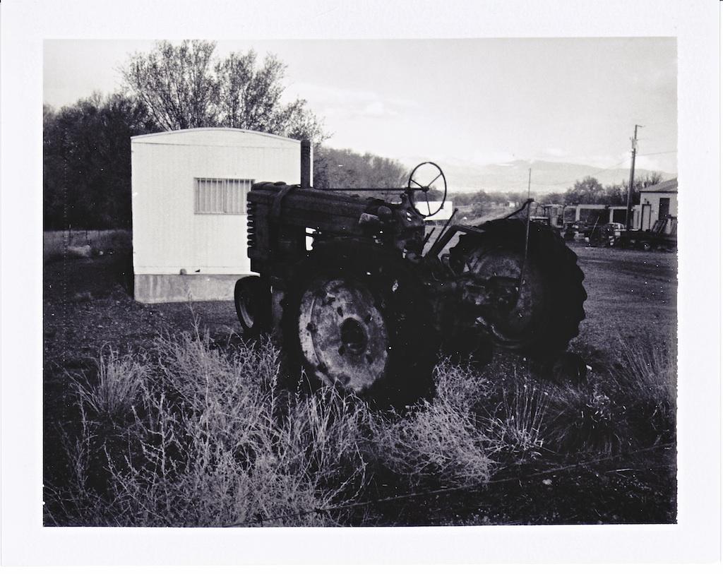 Derelict tractor.