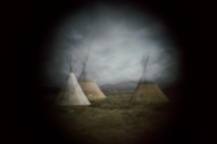 Teepees in Taos.