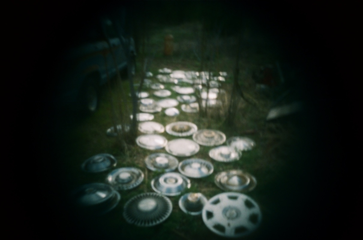 Hubcap collection.