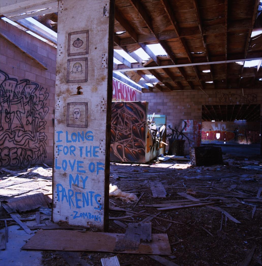Derelict building in Niland, CA.  Kodak Ektar.