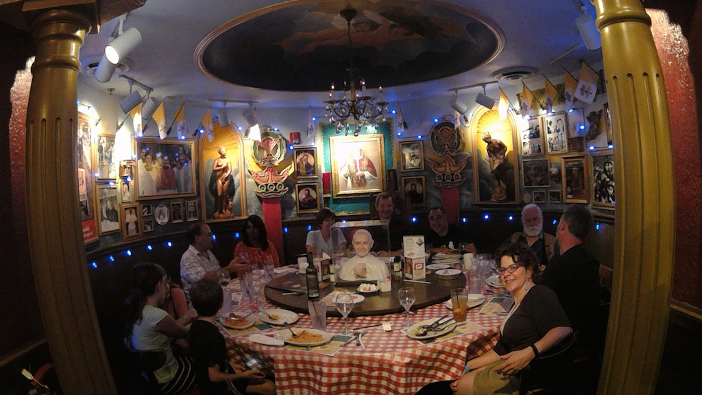 The Pope Room at Buca Di Beppo for a friend's birthday.