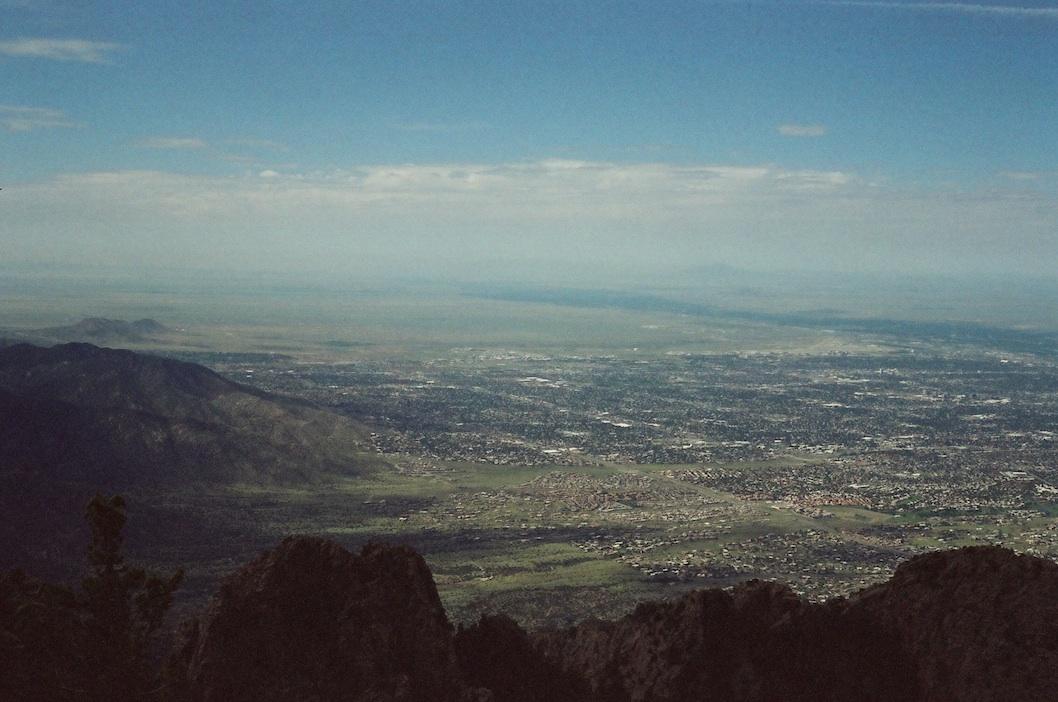 Albuquerque from the top of Sandia Crest.