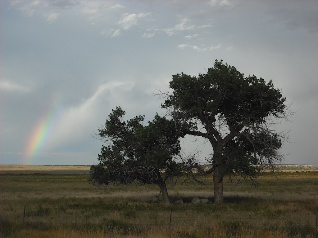 Rainbow on the plains near Walsenburg, CO.