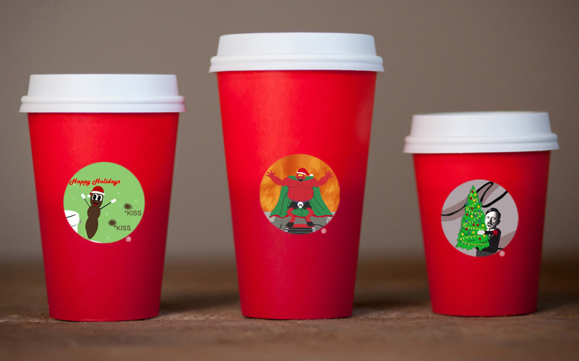 I got yer offensive cups right here.