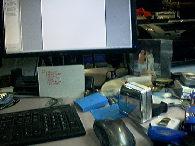 Messy desk.  I can relate.