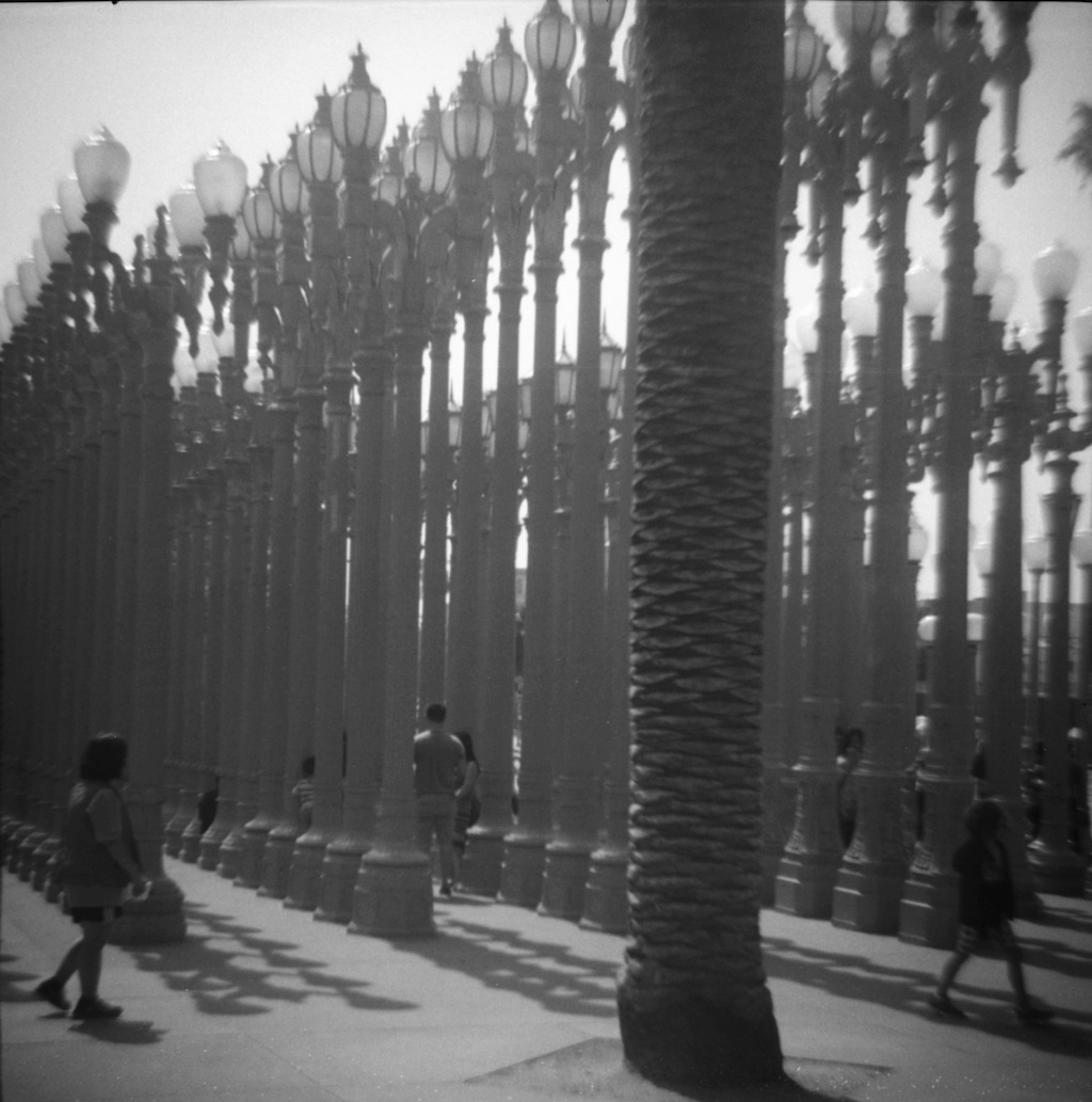 """Urban Light"" by Chris Burden at LACMA."