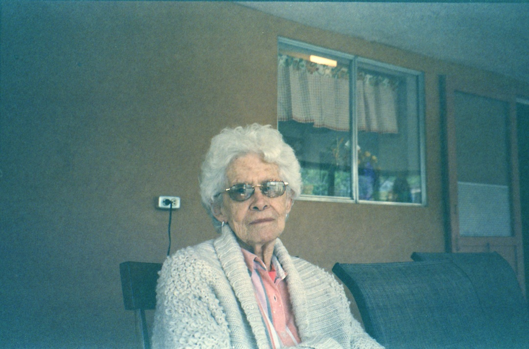 M's grandmother.  The shot from the video.