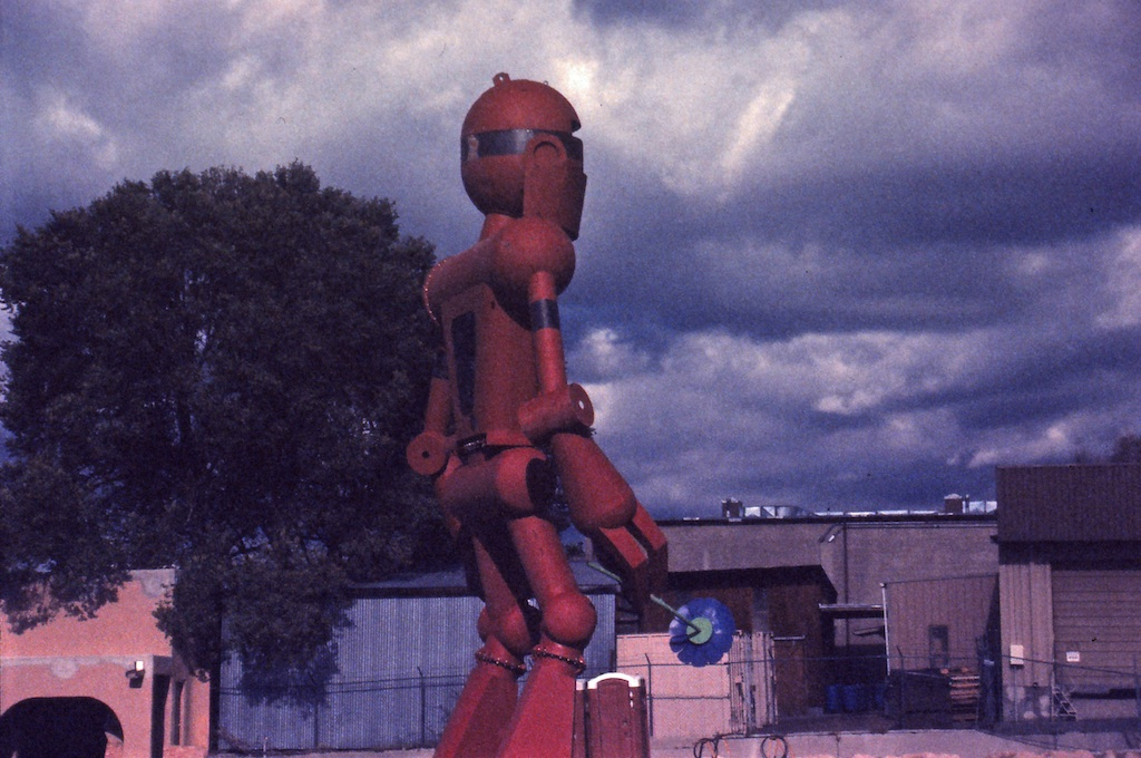 Iron Giant while Meow Wolf was still under construction.