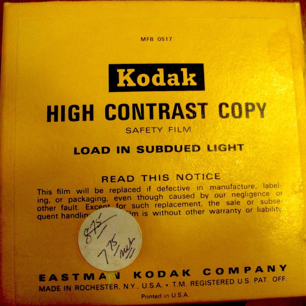 Kodak High Contrast Copy Film