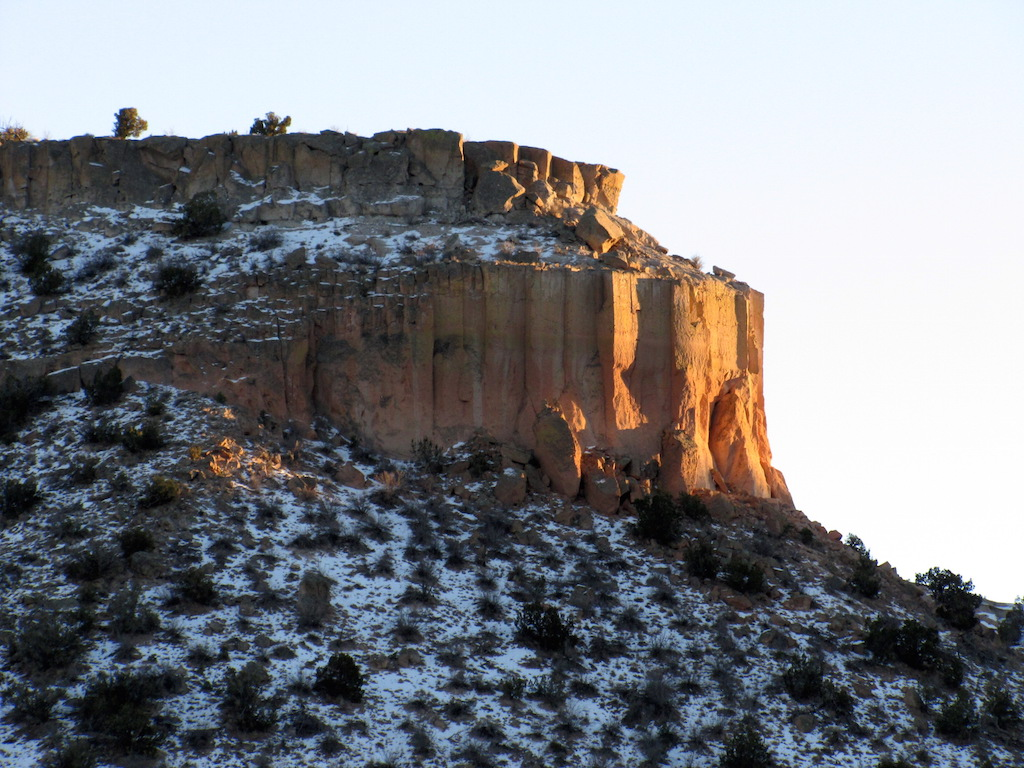 Sandstone mesa near Los Alamos, NM
