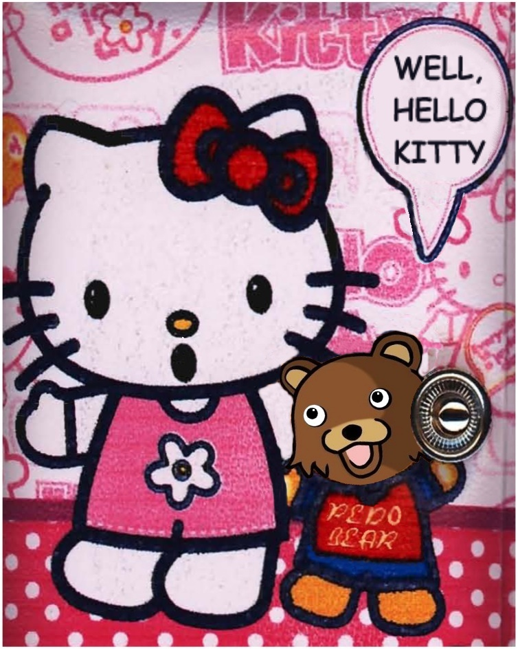 Hello Kitty and Pedobear -- a match made... somewhere.