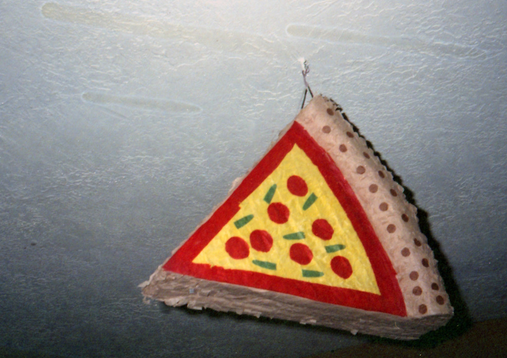 Pizza piñata -- what's not to love?