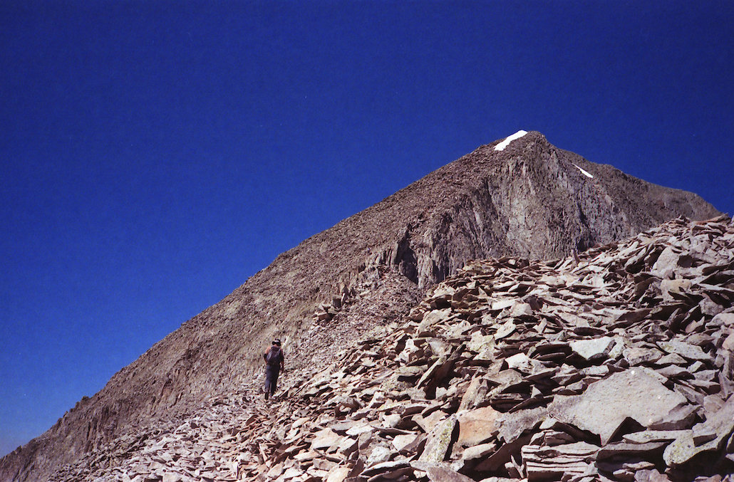 The workout from hell -- hiking up scree.