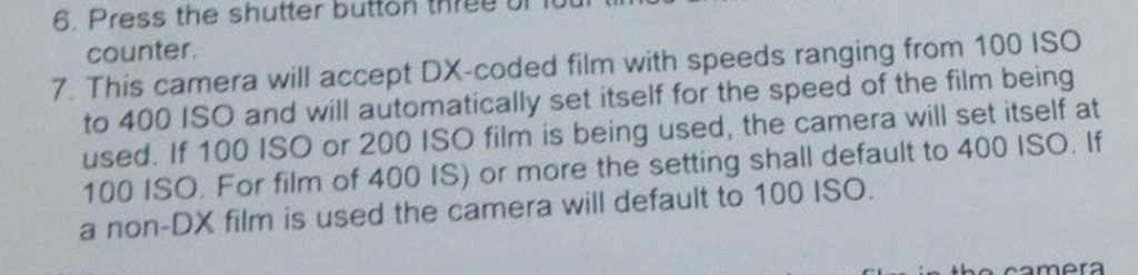 ISO info from a picture of a manual page in another ad.