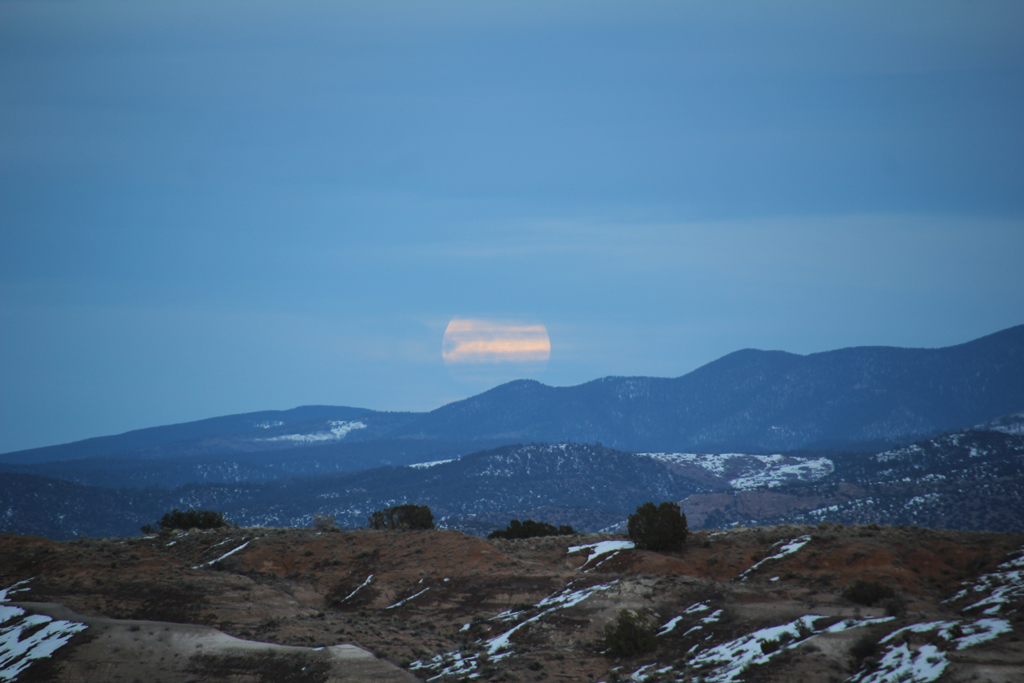 Moonrise over the Sangre de Cristos.
