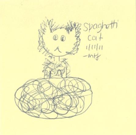 Sticky note portrait by M