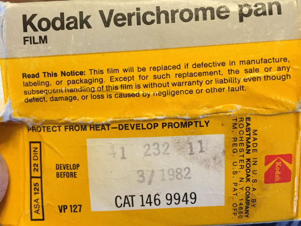 """It performed well for film 37 years past its """"develop before"""" date"""