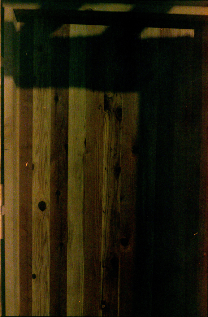 Detail of the front door - beautiful cedar