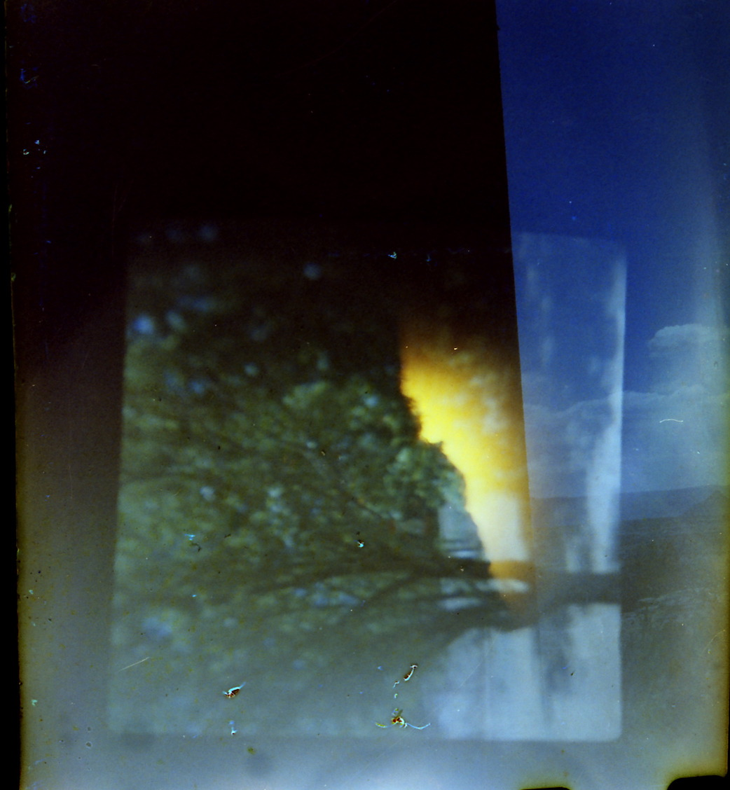 The tail of the Walgreens/AGFA I shot in the Nikkormat EL. Oops, snipped a little too much.