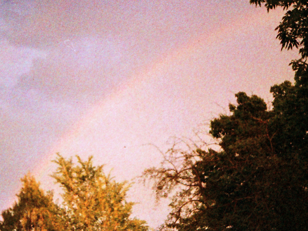 Grainy rainbow.